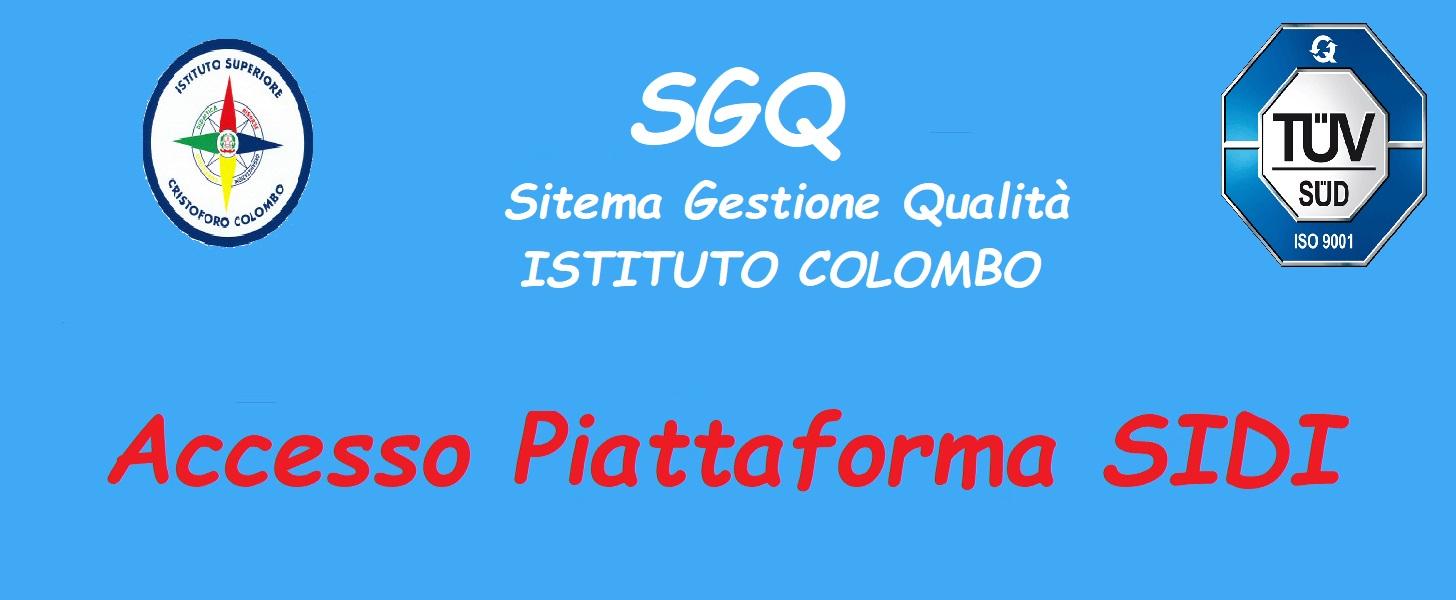 Piattaforma didattica -accesso SIDI-